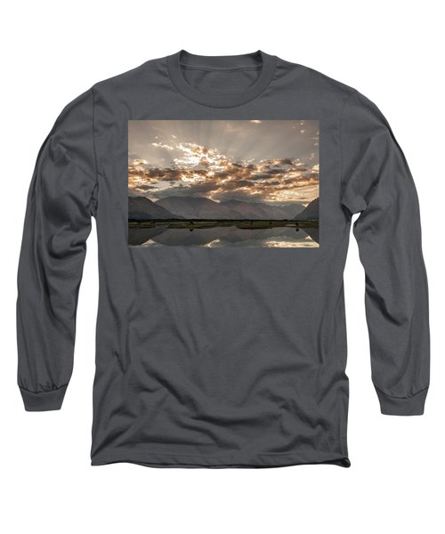 Long Sleeve T-Shirt featuring the photograph Rays And Reflection, Hunder, 2006 by Hitendra SINKAR