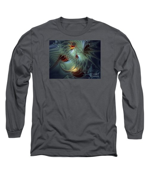 Long Sleeve T-Shirt featuring the digital art Reach For The Moon by Karin Kuhlmann