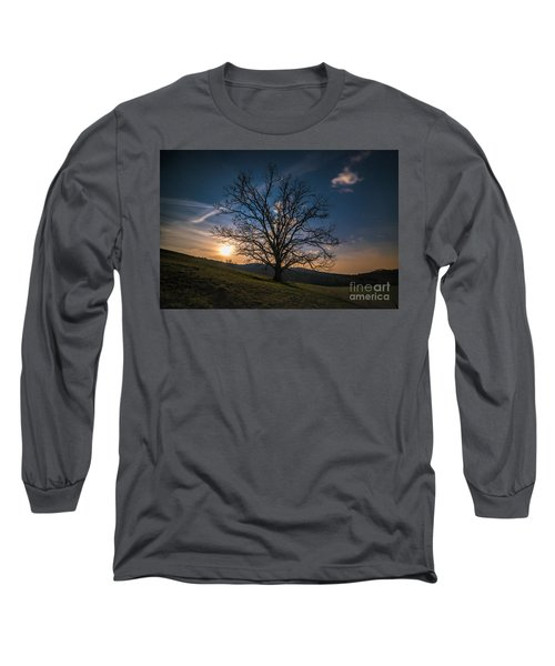 Reaching For The Moon Long Sleeve T-Shirt by Robert Loe