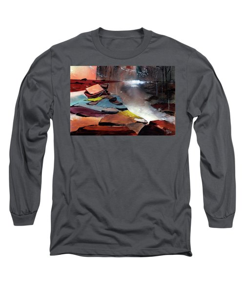Long Sleeve T-Shirt featuring the painting Ready To Leave by Anil Nene
