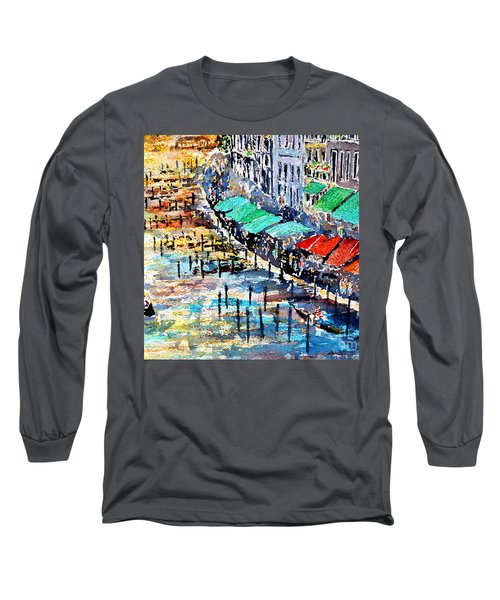 Long Sleeve T-Shirt featuring the painting Recalling Venice 02 by Alfred Motzer