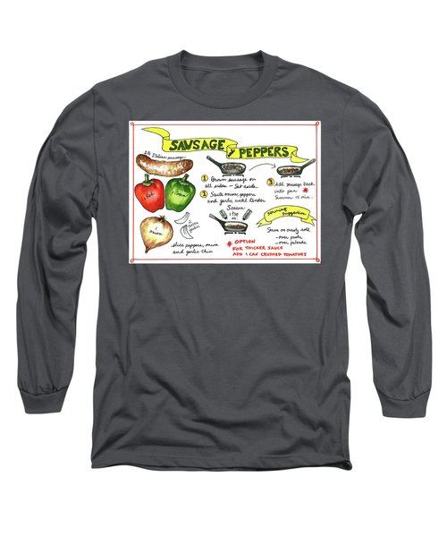 Recipe Sausage And Peppers Long Sleeve T-Shirt