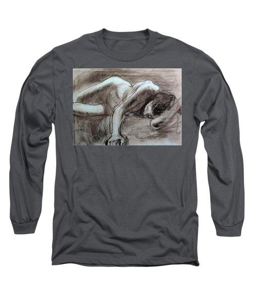 Reclining Female Long Sleeve T-Shirt