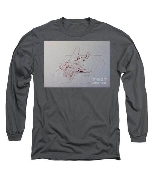 Reclining Nude Lady Long Sleeve T-Shirt