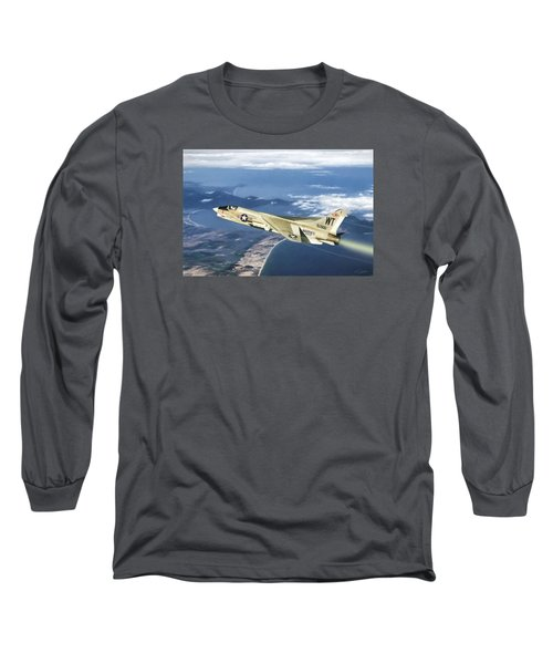Red 1 Lead Long Sleeve T-Shirt by Peter Chilelli