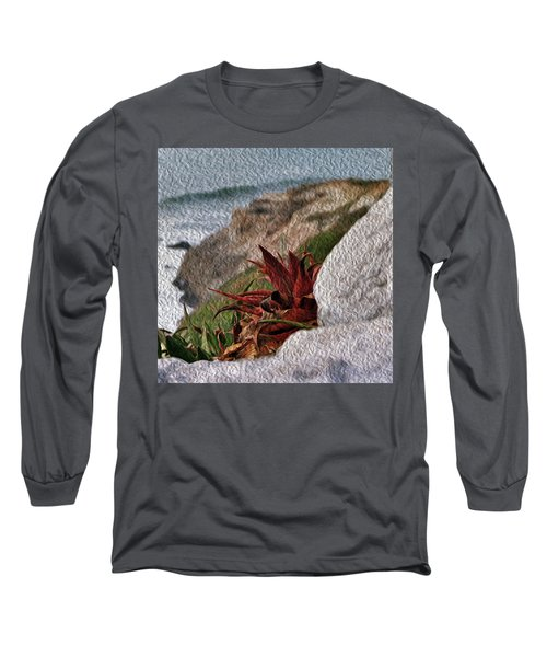 Red Aloe Vera By The Sea Long Sleeve T-Shirt