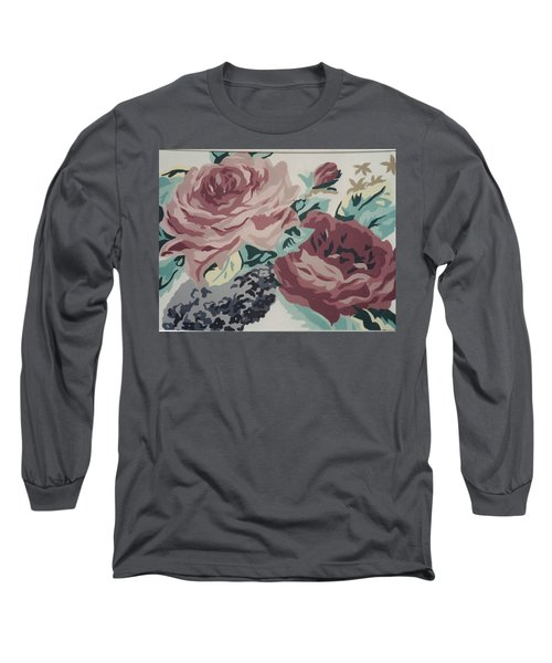 Red And Pink Flowers Long Sleeve T-Shirt