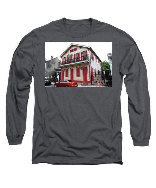 Long Sleeve T-Shirt featuring the photograph Red And Tan House by Steven Spak