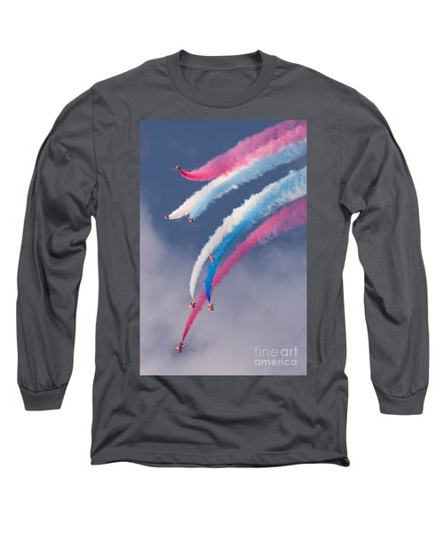 Red Arrows Display Long Sleeve T-Shirt by Colin Rayner