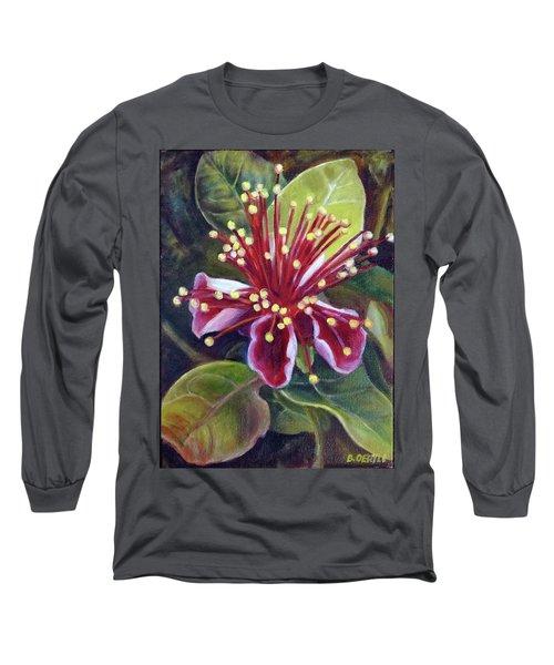 Pineapple Guava Flower Long Sleeve T-Shirt