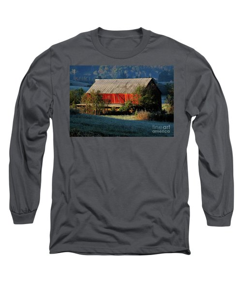 Red Barn Long Sleeve T-Shirt by Douglas Stucky