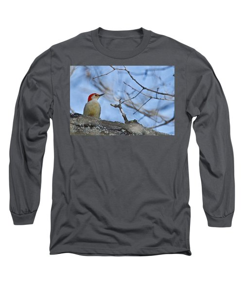 Long Sleeve T-Shirt featuring the photograph Red-bellied Woodpecker 1137 by Michael Peychich