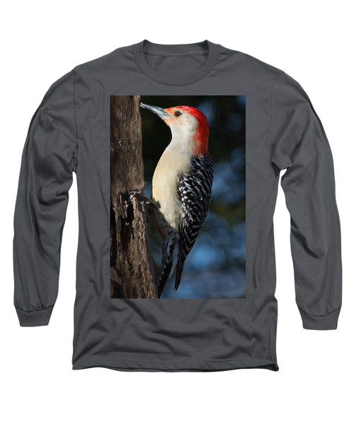 Red-bellied Woodpecker 3 Long Sleeve T-Shirt by Kenneth Cole