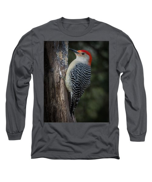 Red-bellied Woodpecker Long Sleeve T-Shirt by Kenneth Cole
