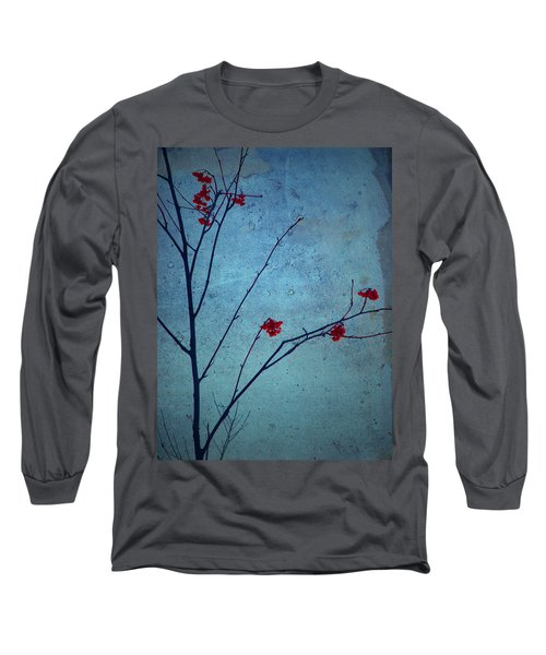 Red Berries Blue Sky Long Sleeve T-Shirt