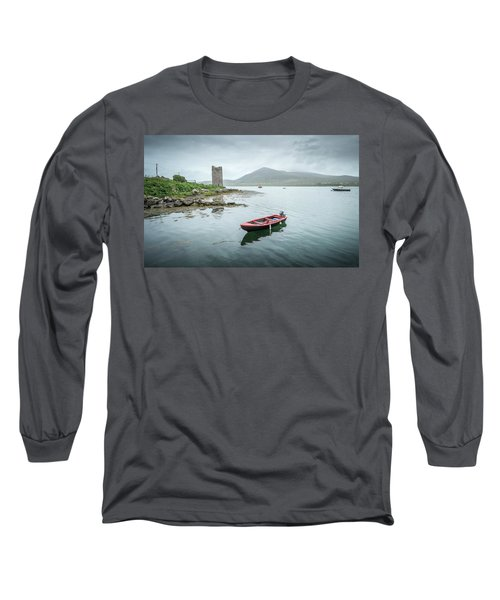 Red Boat Long Sleeve T-Shirt by Marty Garland