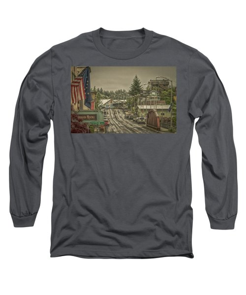 Long Sleeve T-Shirt featuring the photograph Red Bridge Haze by Timothy Latta