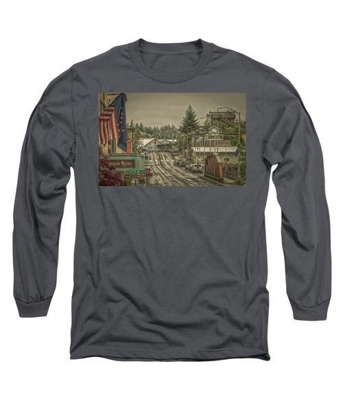 Red Bridge Haze Long Sleeve T-Shirt by Timothy Latta