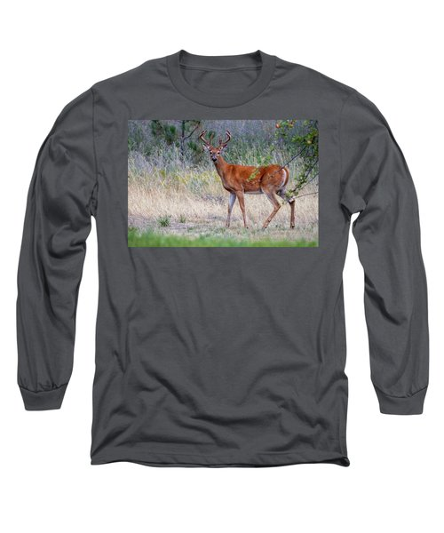 Long Sleeve T-Shirt featuring the photograph Red Bucks 1 by Antonio Romero