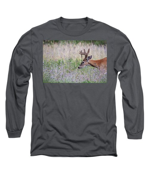 Long Sleeve T-Shirt featuring the photograph Red Bucks 4 by Antonio Romero