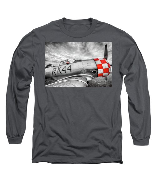 Red Checkers Long Sleeve T-Shirt