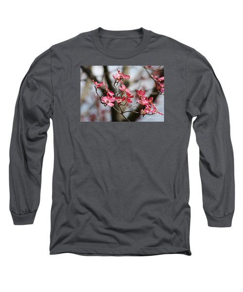 Long Sleeve T-Shirt featuring the photograph Red Cloud Dogwood 2012410_90a by Tina Hopkins