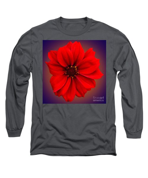 Red Dahlia-bishop-of-llandaff Long Sleeve T-Shirt