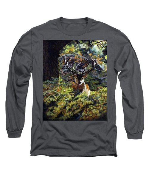 Red Deer Stag Long Sleeve T-Shirt