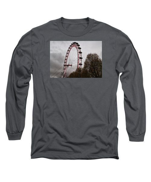 Red Eye Long Sleeve T-Shirt by Shirley Mitchell