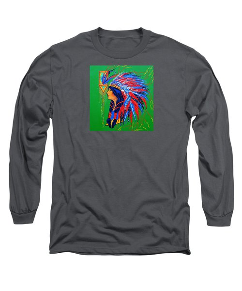 Red Feathers Long Sleeve T-Shirt