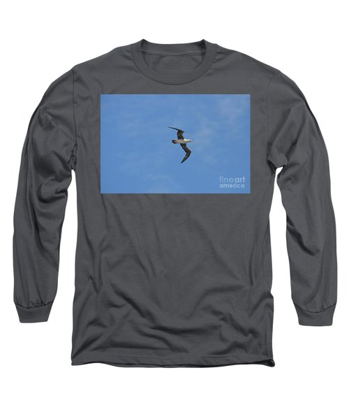 Long Sleeve T-Shirt featuring the digital art Red Footed Booby Bird 1 by Eva Kaufman