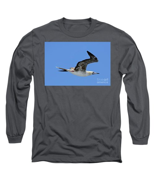 Long Sleeve T-Shirt featuring the digital art Red Footed Booby Bird 2 by Eva Kaufman