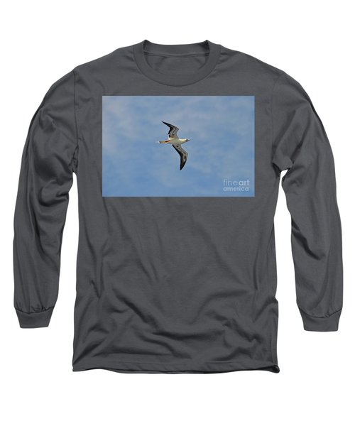 Long Sleeve T-Shirt featuring the digital art Red Footed Booby Bird 4 by Eva Kaufman
