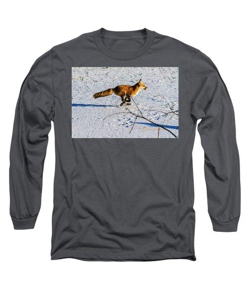 Red Fox On The Run Long Sleeve T-Shirt