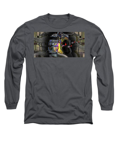 Long Sleeve T-Shirt featuring the digital art Red Franklies by Steve Sperry