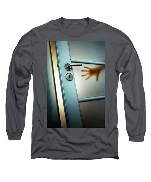 Red Hand On Door Long Sleeve T-Shirt