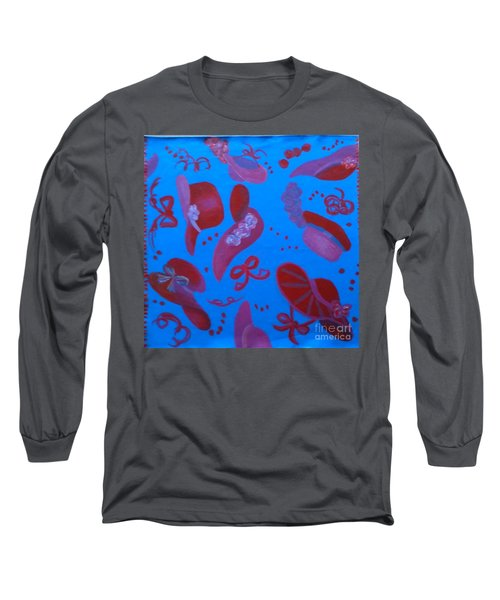Red Hat Floor Cloth Long Sleeve T-Shirt