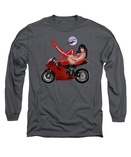 Red Hot Rider Long Sleeve T-Shirt by Glenn Holbrook