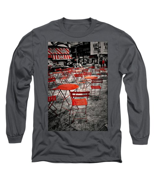 Red In My World - New York City Long Sleeve T-Shirt