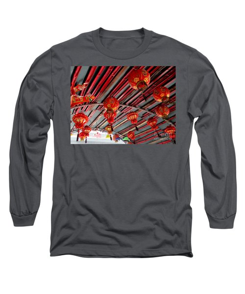 Long Sleeve T-Shirt featuring the photograph Red Lanterns 1 by Randall Weidner