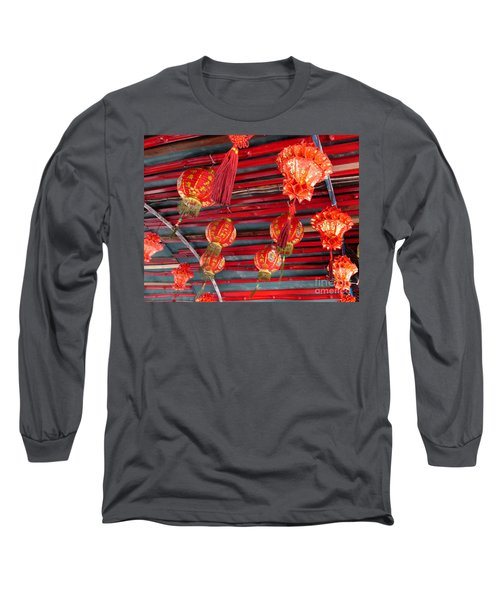 Long Sleeve T-Shirt featuring the photograph Red Lanterns 2 by Randall Weidner