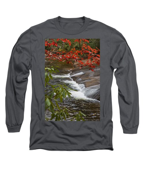 Red Leaf Falls Long Sleeve T-Shirt
