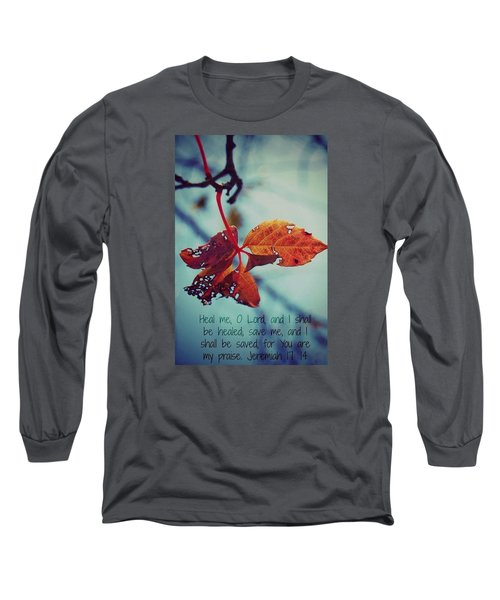 Red Leaf Long Sleeve T-Shirt by Artists With Autism Inc