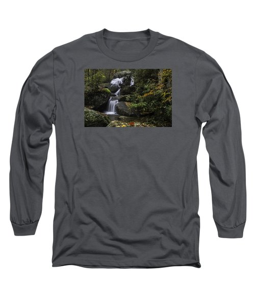 Red Leaf Waterfalls Long Sleeve T-Shirt
