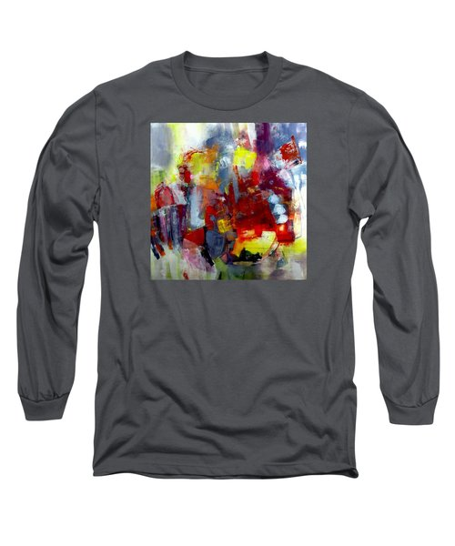 Long Sleeve T-Shirt featuring the painting Red Light by Katie Black