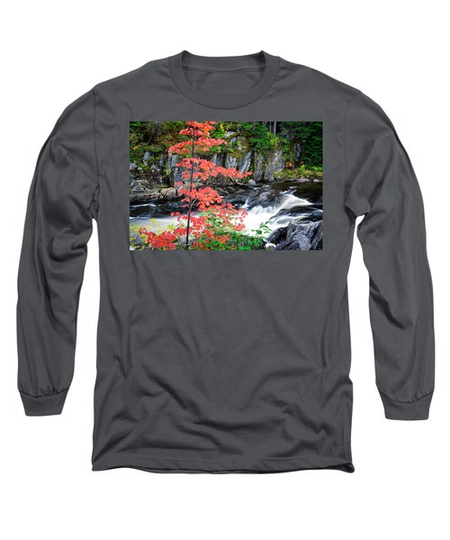 Red Maple Gulf Hagas Me. Long Sleeve T-Shirt