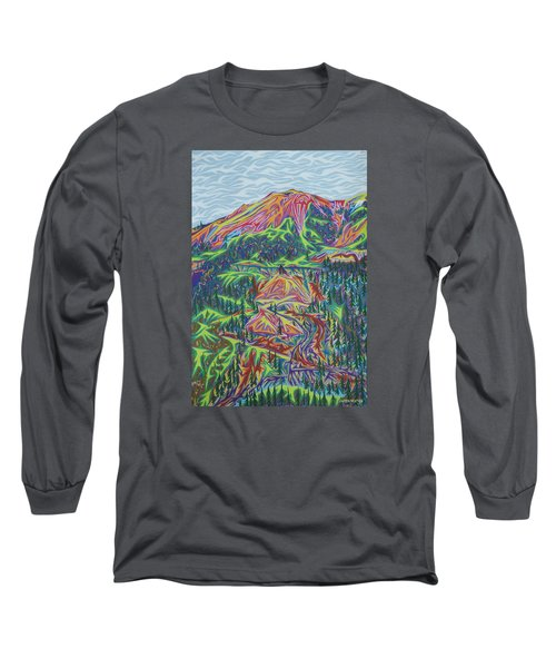 Red Mountain Long Sleeve T-Shirt by Robert SORENSEN