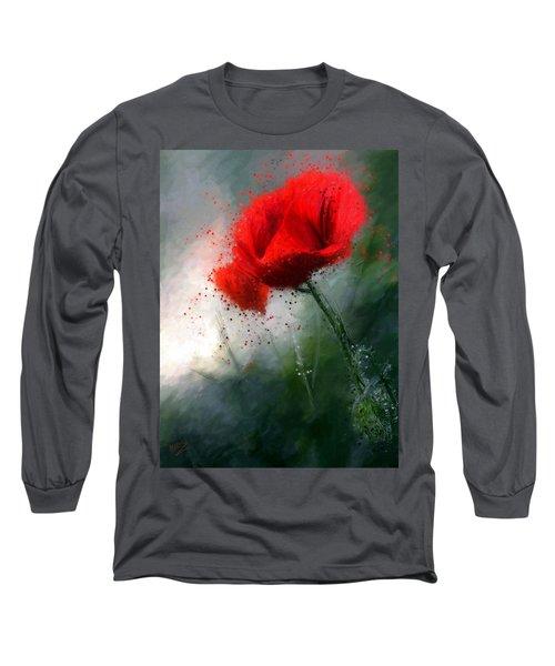 Red Poppy Long Sleeve T-Shirt
