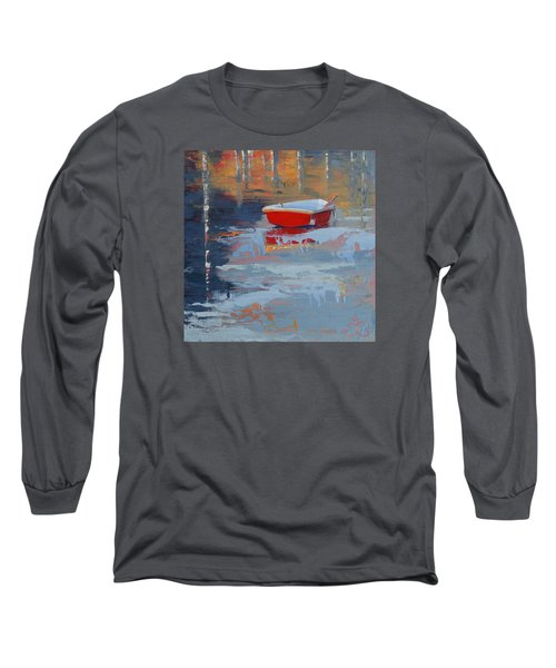 Red Reflections Long Sleeve T-Shirt by Trina Teele