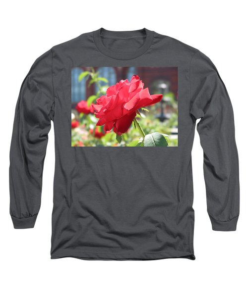 Red Rose Long Sleeve T-Shirt by Brian McDunn